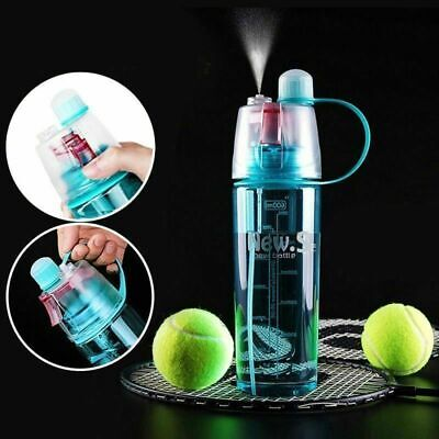 AU14.99 • Buy 400/600ml Cycling Water Drink Bottle Mist Spray Portable Outdoor Sports Gym Cup