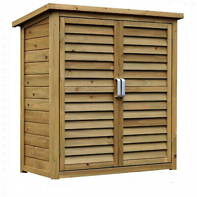Wooden Garden Shed Outdoor Store Cupboard Tool Storage Lawn Mower Wood Cabinet • 99.99£
