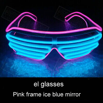 EL Glow Glasses LED Light Up Party Wire Sunglasses Shades Bar Nightclub Rave • 3.99£