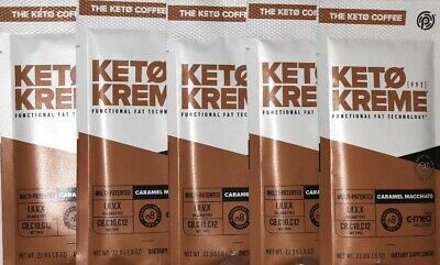 $25 • Buy Pruvit Keto Coffee Kreme Caramel Macchiato 5 Packets - Functional Fat Ketosis