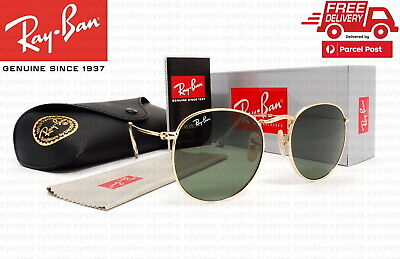 AU99.99 • Buy RayBan Round Metal Classic Gold Sunglasses G-15 Lens RB3447 001 50mm Ray-Ban