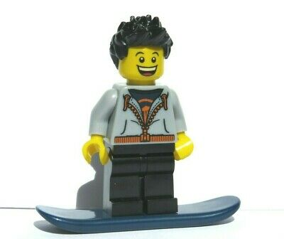LEGO Girl Minifigure Beach Surfer Border Shark Surf Board  Blonde Hair Wetsuit • 3.50£