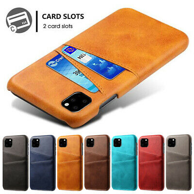 AU4.99 • Buy Slim Leather Wallet Card Holder Back Case Cover For IPhone 12 11 13 Pro XS XR 8