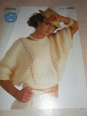 Sirdar Chunky Knitting Pattern 6865 Lady's Top (Cropped Sweater) 30-40  • 0.99£