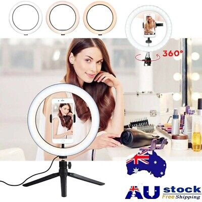 AU42.74 • Buy 6'' 10  Phone Selfie Ring Light + Stand Dimmable For Makeup Video Shooting Live