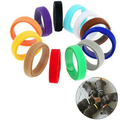 12 Colors Adjustable Newborn Puppy Whelping ID Collars Bands Pet Dog Tags 350mm • 3.64£
