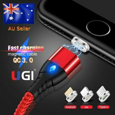 AU9.99 • Buy 3A Magnetic Lighning Fast Charger IOS Cable For IPhone 11 X 8 7 6 IPad Cable AU