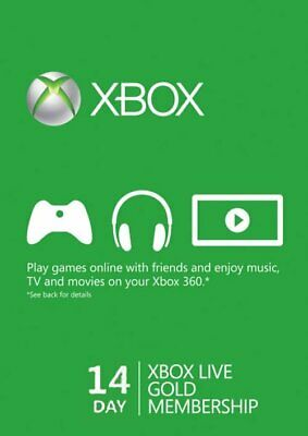 $5.99 • Buy 14 Day Xbox Live Gold Trial Membership (Xbox One/360)