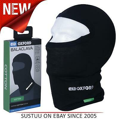 Oxford Cotton Balaclava For Motorcycle/Bike/Scooter│Stretch Material│Black│CA001 • 8.72£