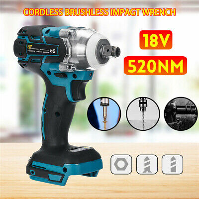 DTW285Z Torque Impact Wrench Brushless Cordless Replacement For Makita Battery • 25.59£