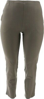 $ CDN41.44 • Buy Women With Control Petite City Slim-Leg Pants Antique Green PM NEW A366050