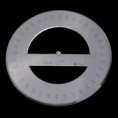 £4.19 • Buy Round 360 Degree Protractor Angle Measure Tool Drawing Ruler Stationery 20cm