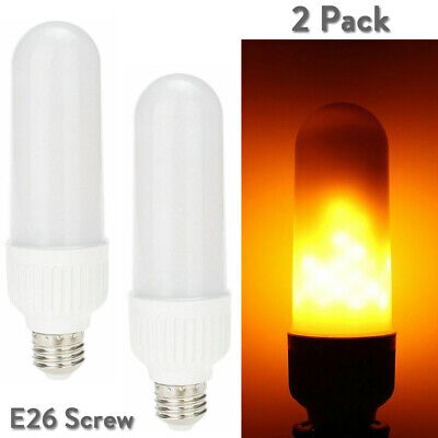 $7.89 • Buy 2x LED Flame Light Effect Simulated Nature Fire Bulb E26 Decoration Lamp 110V