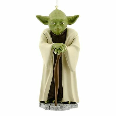 $6.79 • Buy HALLMARK Ornament YODA Christmas Tree Disney NEW Star Wars Baby Figure W/ Ribbon