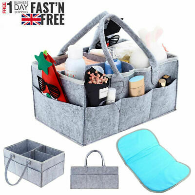 £6.89 • Buy Baby Diaper Organizer Caddy Changing Nappy Kids Storage Carrier Bag Large Pocket