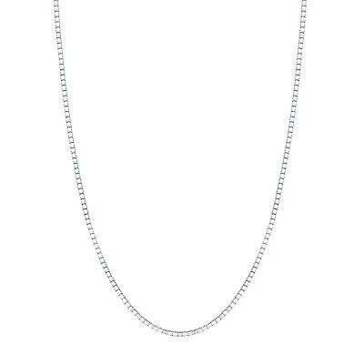 $91.99 • Buy 14K White Gold Box Style Chain Necklace 0.6mm, 16-20