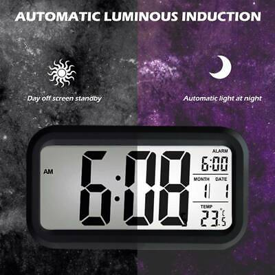 AU10.99 • Buy Led With Calendar+Thermometer Backlight Electronic Alarm Clock Digital IBQ& Time