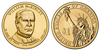 $9.85 • Buy 2013 P&D William McKinley Presidential One Dollar Coins U.S. Mint Rolls Money