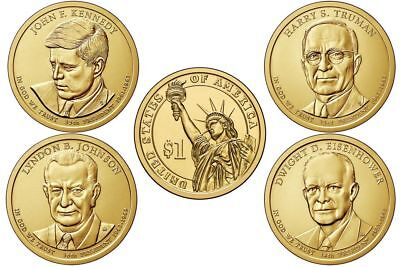 $9.95 • Buy 2015 D Presidential One Dollars Coins 8 Coins President U.S. Mint Rolls Money