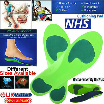 £4.59 • Buy Heel Pain Orthotic Insoles For Arch Support Plantar Fasciitis Flat Feet Back UK