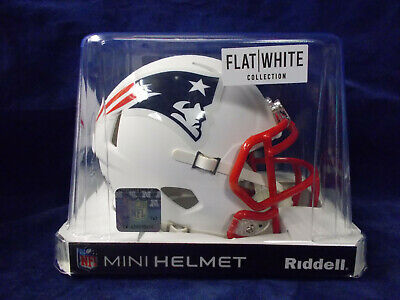 $39.99 • Buy New England Patriots (Flat White) RIDDELL NFL MINI FOOTBALL HELMET