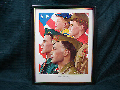 $ CDN18.19 • Buy OPC Norman Rockwell Boy Scout Growth Of A Leader 14 X11  Framed Print