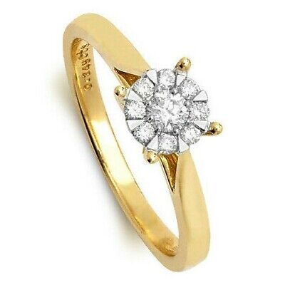 AU1267.37 • Buy Diamond Solitaire Ring Engagement Yellow Gold Large Sizes R - Z Appraisal