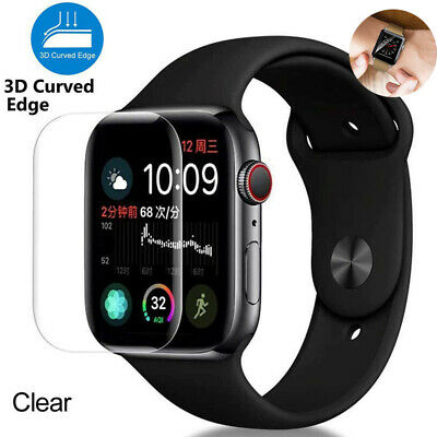 $ CDN3.68 • Buy Tempered Curved 3D Protector For Apple Screen Watch 40mm 44mm 5 Glass Series