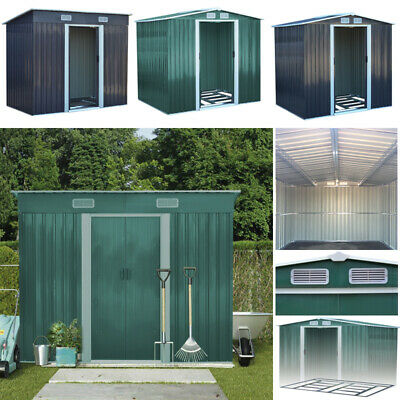 Garden Shed 10x8, 8x8,6x8ft Metal Storage Apex/Pent Roof Outdoor With Foundation • 248.95£