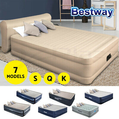AU122.90 • Buy Bestway Air Bed Premium Beds Queen Inflatable Mattress Built-In Electric Pump