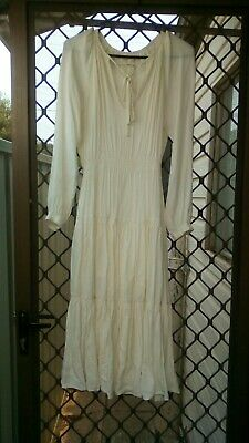 AU29 • Buy URBAN OUTFITTERS. XS. Peasant Dress Cream. NEW CONDITION.