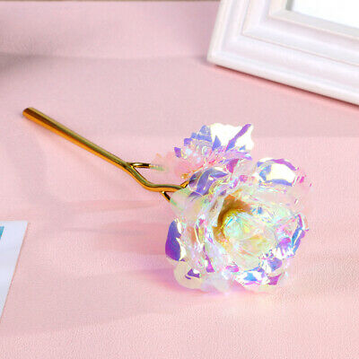 24K Gold Plated Rose Galaxy Romantic Flower Love Valentine's Day Gift Girlfriend • 4.59£