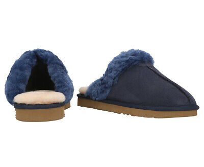 AU10 • Buy Bluestar Women's Premium Australian Sheepskin Ugg Slippers - Navy