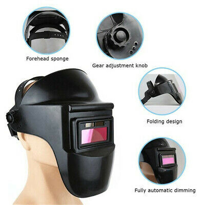 $ CDN15.91 • Buy New Pro Solar Powered Auto Darkening Welding Helmet Grinding Welder Mask
