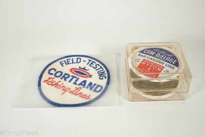 $ CDN33.33 • Buy Vintage Cortland Fishing Line Spool In Box & Field Tester Patch SJE146