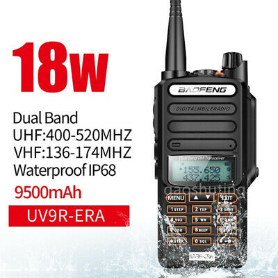 Baofeng UV-9R Plus 18W VHF UHF Walkie Talkie Dual Band Handheld Two Way Radio • 34.69£