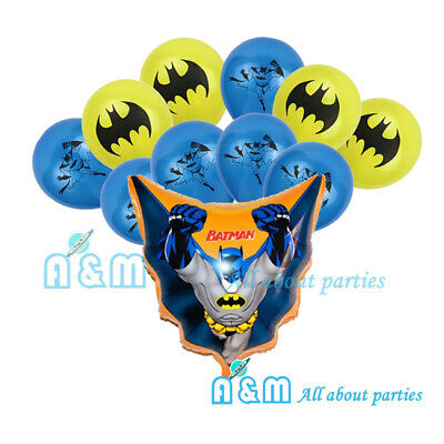 AU9.45 • Buy Batman Balloon Set Birthday Party Decoration (12 Latex + 1 Foil)