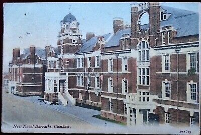 1904 PC NEW NAVAL BARRACKS, CHATHAM With ROCHESTER Post Mark And 650 DUPLEX  • 4.95£