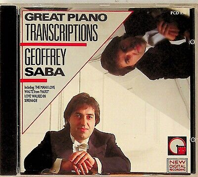Geoffrey Saba -Great Piano Transcriptions CD (The Man I Love/Waltz From Faust)  • 3.69£