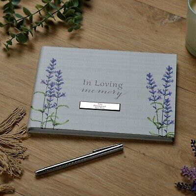 £14.99 • Buy Personalised Memory Funeral Book Remembrance Guest Book With Flowers TY115-P