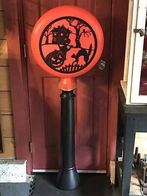 $ CDN133.48 • Buy Vintage Union Products Halloween Silhouette Blow Mold Light Lamp Post