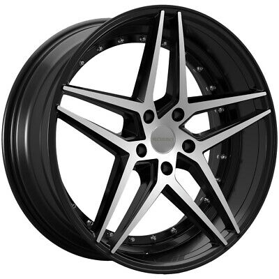 $ CDN1219.54 • Buy 4-NEW 22  Inch ROSSO 701 REACTIV 22x8.5 5x114.3 +40mm Black/Machined Wheels Rims