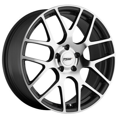 $ CDN1432.01 • Buy 4-TSW Nurburgring 17x7.5 5x114.3 (5x4.5 ) +45mm Gunmetal/Mirror Wheels Rims