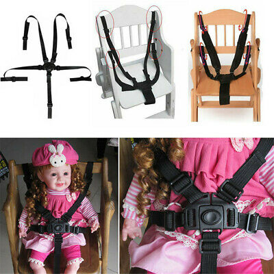 £4.95 • Buy 5 Point Baby Kids Safety Chair Harness Belt Strap High Chair Feeding Car Seat UK