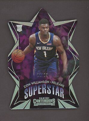 $177.50 • Buy 2019-20 Contenders Superstar Cracked Ice Die-Cut Zion Williamson Pelicans RC /25
