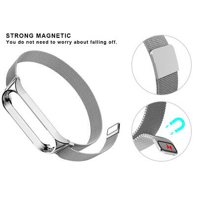 $3.39 • Buy For Xiaomi Mi Band 3 /4 Stainless Steel Strap Wrist Watch Band + Frame Bumper