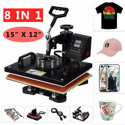 AU268.99 • Buy 8in1 15  Digital Manual Heat Press Transfer T-Shirt  Sublimation Printer Machine