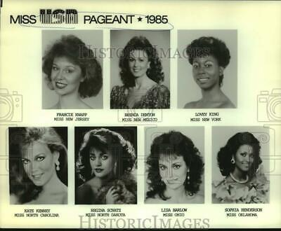 $19.99 • Buy 1985 Press Photo Contestants For The 1985 Miss USA Pageant - Nop64440