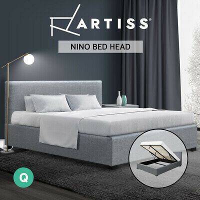 AU279.95 • Buy Artiss Bed Frame Queen Size Gas Lift Base With Storage  Fabric Wooden
