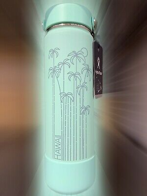 $75 • Buy New Hydro Flask Limited Edition Hawaii Exclusive 2019 Seafoam Teal (Mint) 24 Oz